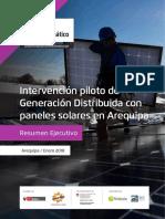 La Generación Distribuida Con Paneles Solares en AQP