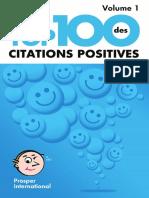 Top 100 Citations Positives