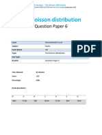 44.6 the Poisson Distribution Qp Ial-cie-maths-s2