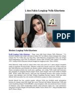 Biodata, Profil, Dan Fakta Lengkap Nella Kharisma