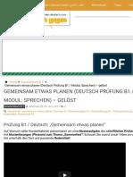 Gemeinsam etwas planen (Deutsch Prüfung B1