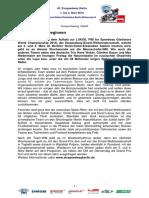 Eisspeedway Berlin 2018, Pressemitteilung 180209