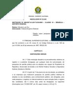 RESOLUÇÃO Nº 23.549 Instrucao Pesquisas Eleitorais 2018
