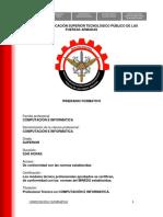 Itinerario Compu Fuerzas Armadas Del Peru