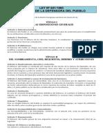 Ley Nº 631-1995 - Orgánica de La Defensoría Del Pueblo