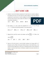 2017 AMC 12B Test