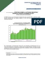 Información Oportuna sobre la Actividad Industrial en México durante Diciembre de 2017