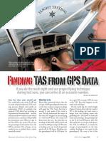 TAS from GPS