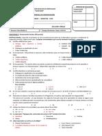 Evaluacion Parcial Comunicacion i Bimestre Primero
