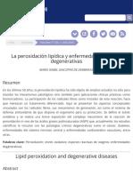 La peroxidacioěn lipiědica y enfermedades croěnicas degenerativas.pdf
