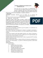 Programa General Ceremonia de Graduacion Promocion 2017 Cristina