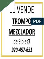 Se Vende Trompo Mezclador