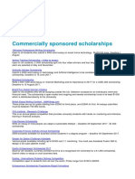 Commercially Sponsored Scholarships