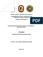 Syllabus Del Seminario Preparacion de Monografia