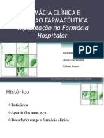 Atenã_ã_o Farmaceutica e Farmacia Clinica -Implantaã_ao Na Farmacia Hospitalar