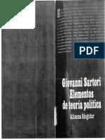 Elementos de Teoría Política - Giovanni Sartori