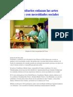 Universitarios Enlazan Las Artes Visuales Con Necesidades Sociales