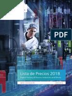 Lista de Precios Siemens DFPD 2018