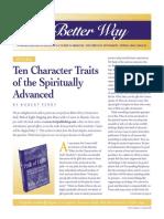 Ten Character Traits of the Spiritually Advanced