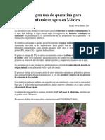 Investigan Uso de Queratina Para Descontaminar Agua en México