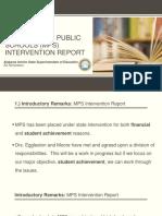 Montgomery Public Schools intervention plan
