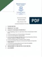 Env Committee Meeting Agenda 2-9-18