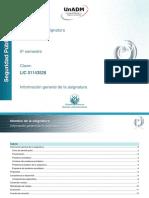 Informacion General de La Asignatura SEYV