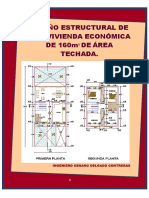 DISEÑO ESTRUCTURAL DE UNA VIVIENDA ECONOMICA  DE 160M2 DE AREA TECHADA.pdf