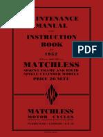 1952 Matchless Manual