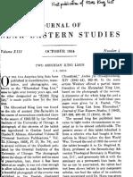 Gelb - Two Assyrian King Lists - JNES Vol XIII Oct 1954 No. 4