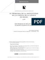 El problema de la negatividad en la Ciencia de la lógica de Hegel - Juan Serey Aguilera
