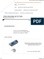 Zero Crossing Detection Arduino