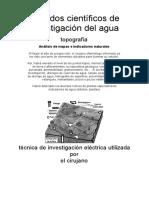 Metodos para la investigacion subterranea