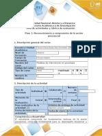 Guía de Actividades y Rúbrica de Evaluación - Paso 1 - Reconocimiento y Comprensión de La Acción Psicosocial