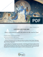 [ENGLISH] Lenten Letter 2018 – Vincentian Family