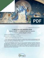 [PORTUGUÊS] Carta de Quaresma 2018 – Familia Vicentina