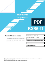 Manual de Propietario Kx85
