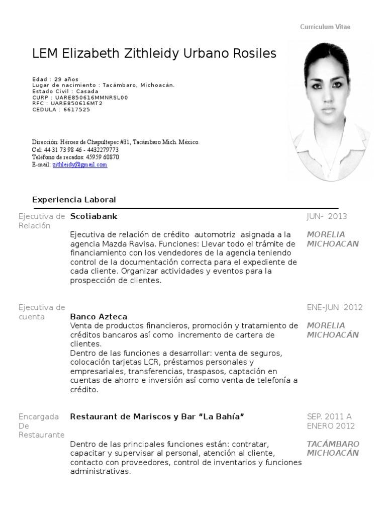 Magnífico Ejemplos De Curriculum Vitae Vendedor De Autos Galería ...