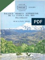 Balance Hidrico Superficial de La Cuenca Del Rio Pilcomayo