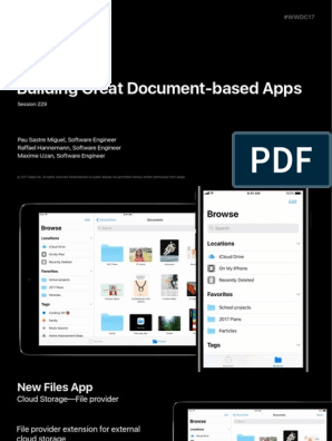 Building Great Documentbased Apps in Ios 11 | I Cloud | I Pad