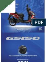 Manual de Motoneta Gs150