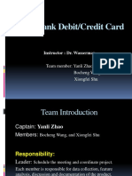 Multi-Bank Debit & Credit Card