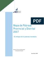 Mapa de Probeza 2007 Inei