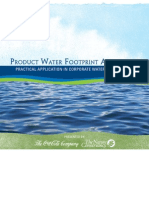 Product Water Footprint Assessments