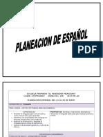 Plan de Clase Español