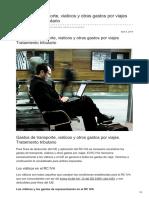 Boliviaimpuestos.com-gastos de Transporte Viaticos y Otras Gastos Por Viajes Tratamiento Tributario