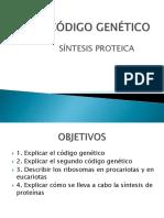 Codigo Genetico y Sint de Proteinas II Per 2017
