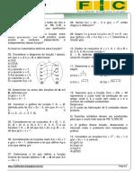 1ª Lista de Exercícios-matemática(Noções de Função)