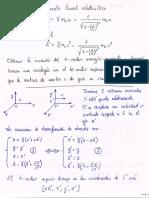 Demostración Invariancia 4 Vector Energía Momento