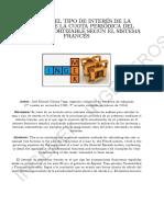 Aplicación de Métodos Numéricos de Análisis. Cálculo Del Tipo de Interés en La Ecuación de La Amortización de Un Préstamo (Versión 25-02-2013)